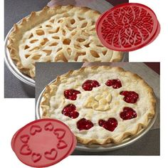 Nordic Ware Lattice and Hearts Pie Top Cutters * Click image for more details. Aluminum Pie Pans, Lattice Pie Crust, Pie Cutter, Fancy Kitchens, Muffin Tin Recipes, Pie Tops, Fancy Cookies, Nordic Ware, Dessert Recipes