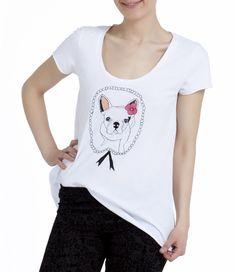"""Bobby the Dog"" hand painted tshirt / Köpekli, el boyaması tişört www.gigidukkan.com"