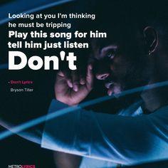 Bryson Tiller – Don't Lyrics