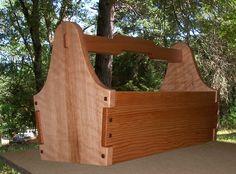 Custom Made Greene & Greene Garden Tool Tote long, tall and wide. - Custom Made Greene & Greene Garden Tool Tote long, tall and wide. Tool Box Diy, Wood Tool Box, Wooden Tool Boxes, Wood Tools, Small Woodworking Projects, Diy Woodworking, Wood Shop Projects, Small Wood Projects, Tool Tote