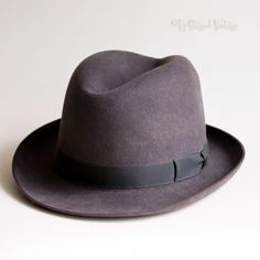 f6b7905f275d87 Vintage 1950s/60s Grey Felt Trilby FAILSWORTH Swallow Men's Hat by  UpStagedVintage on Etsy Harris