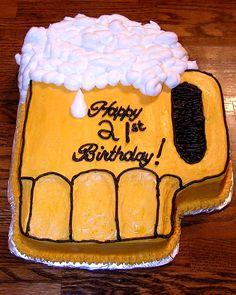 Beer Mug Cake:  Bottom's up!