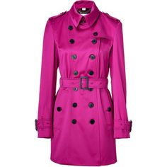BURBERRY LONDON Magenta Pink Westland Trench Coat