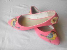 Bosonozka / Maľované topánky