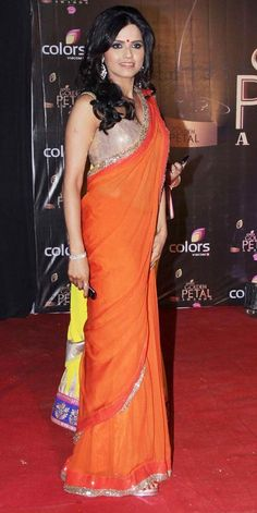 Seema Mishra at the third edition of the Colors Golden Petal Awards. #Fashion #Style #Bollywood #Beauty