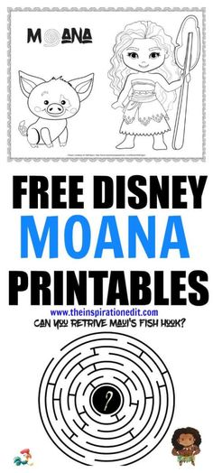 Free Colouring Pages Moana : Free printable moana coloring sheets kids activities #moana