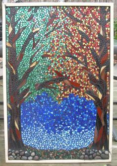 Changing Seasons Mosaic Art,,,by MosaicMoonStudio @ Etsy.com