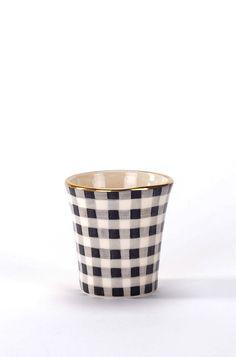 Espresso Cup Vichy Black - En Soie