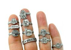 30 Pieces Of Star Wars Jewellery To Celebrate May The - Star Wars Rings - Ideas of Star Wars Rings - 15 Pieces Of Star Wars Jewellery To Celebrate May The Bijoux Star Wars, Star Wars Jewelry, Star Wars Ring, Wedding Star Wars, Star Wars Schmuck, Diy Star, Star War 3, Bling, Star Wars Gifts