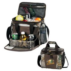 The All In One cooler in Realtree APX Camo is the only cooler you will ever need. While not only able to hold 16 cans plus ice, this cooler stands out with it's fold down 3 can holder, and 4 mesh pockets for plenty of storage, and as always, our 5 year no leak liner guarantee.