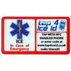 ICE ID stickers display the paramedic star and ICE which makes them easily recognisable by emergency personnel. Packing, Ice, Display, Stickers, Star, How To Make, Bag Packaging, Floor Space, Billboard