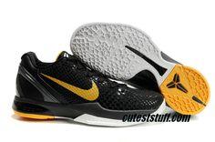 Nike Zoom Kobe 6 Shoes 436311 002 Teaser Black Gold $56.99