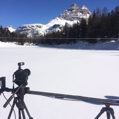 SmartSystem go Wild! Misurina Lake - Shooting with SmartSLIDER PRO 1300, DigiDRIVE Basic, and DigiMOTOR PRO. Many thanks to Matteo Vettorel for this backstage shot. The lenght (1300 mm) of this video slider is very useful in far field clips. www.smartsystem.it