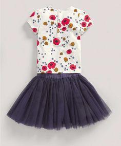 Girls Fashion Two Piece Floral T-Shirt and Tutu Set - All Girls - Mamas & Papas