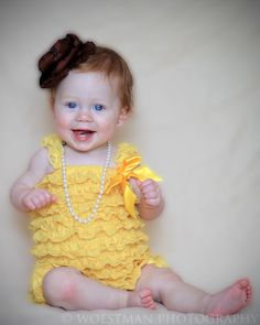 lace baby romper. so cute!!  (click to win)