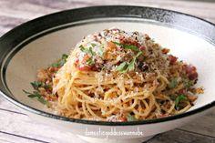 Spaghetti Aglio Olio With Bacon And Garlic Breadcrumbs