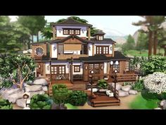Sims House Plans, Sims 4 Build, Sims 4 Houses, Modern Mansion, Japanese House, Home And Family, Animal Crossing, Otaku Room, Sims Ideas
