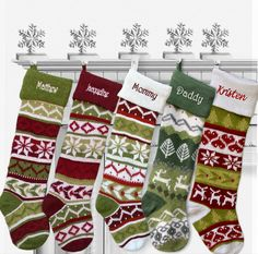 Knitted Christmas Stockings White Cuff Dear Hearts Fair Isle Pattern 28 Personalized / Embroidered with a Name >>> You can find more details by visiting the image link-affiliate link. Personalized Knit Christmas Stockings, Knitted Christmas Stockings, Christmas Knitting, Knit Stockings, Embroidery Fonts, Embroidery Thread, Red Christmas, Etsy Christmas, Homemade Christmas