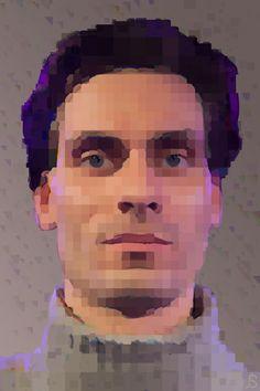 Pixel sekfie by Arseny Samolevsky