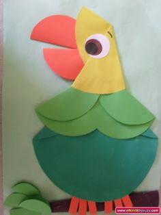 Paper Folding Activities for Kids On this page there are many paper folding activities related to animals. You can use for Mother's Day crafts to this paper folding activity. Paper Folding Crafts, Bird Crafts, Paper Crafts For Kids, Animal Crafts, Preschool Crafts, Fun Crafts, Arts And Crafts, Preschool Kindergarten, Diy Paper