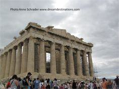 The Parthenon, Athens Greece, was built as a temple to worship the goddess Hera.  It is 31m wide, 70m long and 10.5m high.  It was built between 447 and 438 B.C.  This is the most important monument of the ancient Greek civilization.