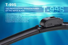 The Detail Of  T-99S New High Quality Multi-fit Flat Wiper Blade Functional Boneless Windshield Wipers One piece spring structure with iron legs Right hand driving and Left hand driving for choice. aerodynamic design, anti-lift in high speed. Durable TPR material. Refill material:  natural rubber with special formula, without noise. Passed 72hours salt spray test, anti-aging test, high temperature and low temperature resistance test.