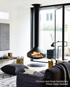 20 cheminées centrales pour un intérieur design et contemporain