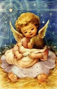 Angel holding Jesus