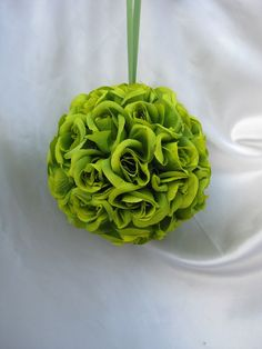 Hey, I found this really awesome Etsy listing at http://www.etsy.com/listing/83922752/rose-pomander-apple-green-5-in-diameter