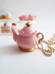 Antique teapot necklace: I wish I could find these cute little things!!