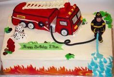 Amazing Photo of Fire Truck Birthday Cake . Fire Truck Birthday Cake Firetruck Cake Baked In Heaven Truck Birthday Cakes, Truck Cakes, Fire Cake, Fire Fighter Cake, Fireman Party, Firefighter Birthday, Cakes For Boys, Themed Cakes, Party Cakes