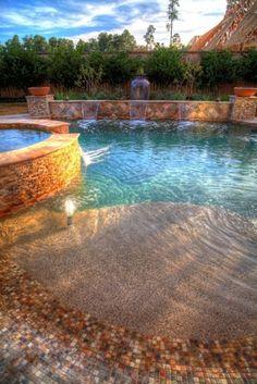 Beach Inspired Pool. Love! YES!!!