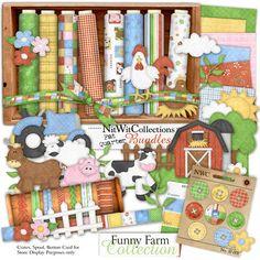 Digital scrapbooking farm and card making farm kit FQB - Funny Farm