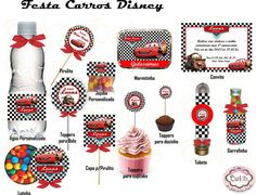 Kit Festa Carros Disney Car Themed Parties, Cars Birthday Parties, 2nd Birthday, Race Car Party, Car Themes, Birthday Decorations, First Birthdays, Childrens Party, Baby