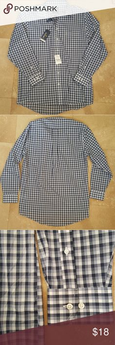 Stafford Men's Shirt NEW Stafford plaid shirt. Regular fit. Size 16.5. Stafford Shirts Dress Shirts