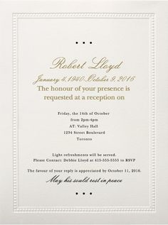 39 best funeral reception invitations pinterest reception sample funeral reception invitation wording on a paperless post design click through for copy and paste able wording stopboris Gallery