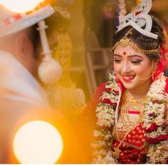 Beautiful Photos of Bengali Brides Bengali Bridal Makeup, Bengali Wedding, Bengali Bride, Saree Wedding, Indian Bridal, Wedding Bride, Romantic Couples Photography, Bridal Photography, Beauty Photography