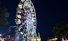 Official website of The Sandwich Fair -- shown here is the ferris wheel on the midway. However, it is so much more than just rides! The arts, crafts, baking, sewing, and horticulture entries are a true example of America's small town culture.