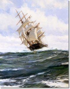Montague Dawson Nautical Painting - The Light Brigade Painting