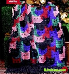 This is for a crocheted afghan.  Though could be used as cross-stitch.  See picture of graph.