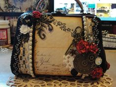 Altered wooden purse...
