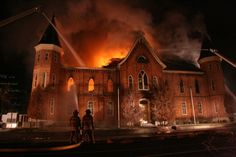 Refiners Fire burned out the Tabernacle despite the flow of fire hoses and members tears