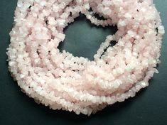 WHOLESALE 5 Strands Rose Quartz Chips Pink Rose by gemsforjewels