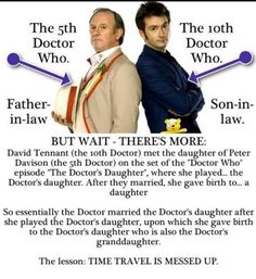 Plus they appeared together in a mini-sode where the 10th Doctor revealed that the 5th Doctor was his favourite growing up. Mind blowing.