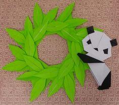 笹の葉リース パンダ | 折り紙の楽しみ