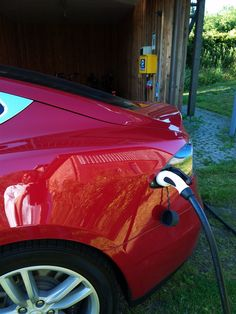 #Ladesäule für Gäste mit #Elektroautos von #JanbecksFAIRhaus
