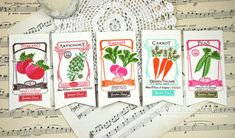Veggie Bookmarks by Dawn McVey for Papertrey Ink (June 2013)