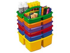 These bins are so helpful for organizing center supplies I wish I had some #LakeshoreDreamClassroom