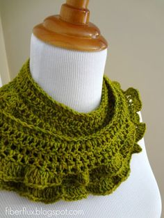 Fiber Flux...Adventures in Stitching: Free Crochet Pattern... Arugula Scarf