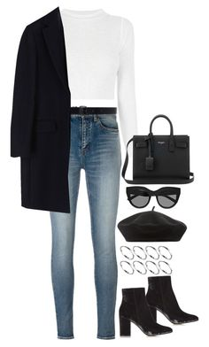 """""""Untitled #1766"""" by breannaflorence on Polyvore featuring Yves Saint Laurent, Ann Demeulemeester, Le Specs, Accessorize, Gianvito Rossi, ASOS and MSGM"""